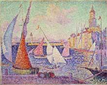 Paul Signac: le port de Saint Tropez. 189. Huile sur toile. Saint Tropez, Musée de l'Annonciade