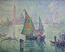 Paul Signac: la voile verte, Venise. 1904. Huile sur toile, 65 x 81 cm. Paris, Musée d'Orsay