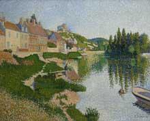 Paul Signac: le Petit Andelys: la berge. 1886. Huile sur toile