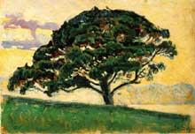Paul Signac: le pin de Saint Tropez. 1892-1893. Huile sur bois. Saint-Pétersbourg, musée de l'Ermitage