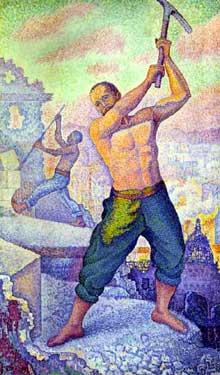 Paul Signac: Le Démolisseur. 1896-1899. Huile sur toile. Nancy, Musée des Beaux-Arts