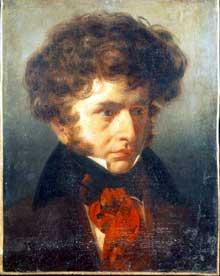 Émile Signol: portrait d'Hector Berlioz. 1832. Huile sur toile, 47 x 37 cm. Rome, Académie de France