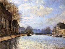 Alfred Sisley: Vue du Canal Saint-Martin. 1870. Paris, Musée d'Orsay
