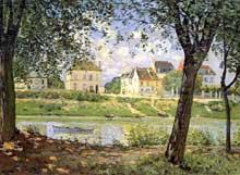 Alfred Sisley: Villeneuve-la-Garenne sur Seine. 1872. Saint-Pétersbourg, Musée de l'Ermitage