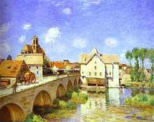 Alfred Sisley: Alfred Sisley: le pont de Moret. 1893. Paris, Musée d'Orsay