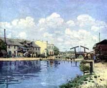Alfred Sisley: Alfred Sisley: le canal saint Martin. 1872. Huile sur toile, 38 x 47 cm. Paris, Musée d'Orsay