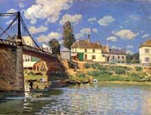 Alfred Sisley: Alfred Sisley: pont à Villeneuve la Garenne. 1872. Huile sur toile. New York, collection Ittleson