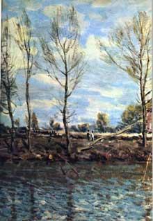 Alfred Sisley: la grande Jatte. 1873