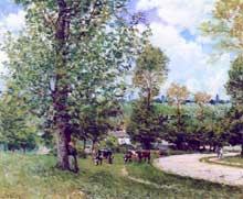 Alfred Sisley: Alfred Sisley: vaches dans les prés près de Louveciennes. 1875