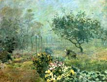 Alfred Sisley: le brouillard. 1874