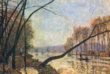 Alfred Sisley: Bords de Seine en Automne. 1876. Huile sur toile, 46,5 x 65,4 cm. Francfort Städelsches Kunstinstitu