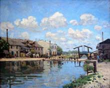 Alfred Sisley: Le canal Saint-Martin. 1872. Huile sur toile, 47 cm x 38 cm. Paris, Musée d'Orsay