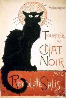 Théodore Steinlein: affiche pour le cabaret «le chat noir». 1896