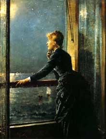 Alfred Stevens: la voie lactée. Huile sur toile,68 x 53 cm. Bruxelles