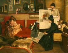 Alfred Stevens: dans l'atelier.1888. Huile sur toile. New York, Metropolitan Museum of Art