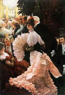 James Tissot : l'ambitieuse. 1883-1885. Huile sur toile, Buffalo, Albright-Knox Art Gallery
