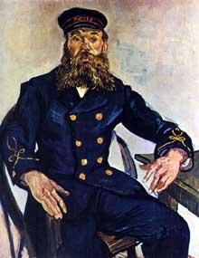 Vincent Van Gogh: le facteur Roulin. Août 1888. Huile sur toile, 81 x 65 cm. Boston, Museum of fine Arts