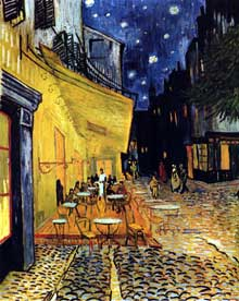 Vincent Van Gogh : le café le soir. Septembre 1888. Huile sur toile, 70 x 89 cm. New Haven, Yale University Art Gallery