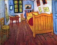 Vincent Van Gogh: la chambre de Vincent à Arles. Octobre 1888. Huile sur toile, 72 x 90 cm. Amsterdam, Rijksmuseum Vincent van Gogh