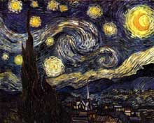 Vincent Van Gogh: la nuit étoilée. Juin 1889. Huile sur toile, 73 x 92 cm. New York, Museum of Modern Art