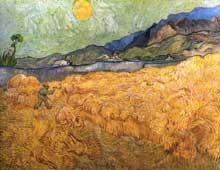 Vincent Van Gogh: Champ de blé. Début juillet 1889. Huile sur toile, 74 x 92 cm. Amsterdam, Rijksmuseum Vincent van Gogh