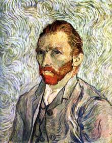 Vincent Van Gogh: autoportrait. Septembre 1889. Huile sur toile, 65 x 54 cm. Paris, musée d'Orsay