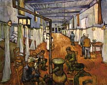 Vincent Van Gogh: l'hôpital à Arles. Octobre 1889. Huile sur toile, 74 x 92 cm. Winterthur, Sammlung Oskar reinhart