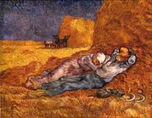 Vincent Van Gogh: la sieste. Janvier 1890. Huile sur toile, 73 x 91 cm. Paris, musée d'Orsay