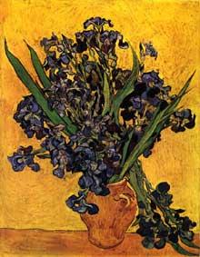 Vincent Van Gogh: les iris. Mai 1890. Huile sur toile, 92 x 73,5 cm. Amsterdam, Rijksmuseum Vincent van Gogh