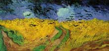 Vincent Van Gogh: champ de blé aux corbeaux. Juillet 1890. Huile sur toile, 50,5 x 100,5 cm. Amsterdam, Rijksmuseum Vincent van Gogh