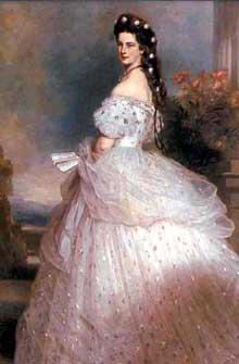 Franz Xaver Winterhalter: l'impératrice Elisabeth «Sissi». 1864. Vienne, Kunsthistorisches Museum
