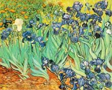 Vincent Van Gogh: les iris. Mai 1889. Huile sur toile. New York, Musée Paul Getty