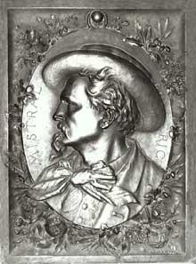 Jean Barnabé Amy (1839-1907): Frédéric Mistral. Bronze