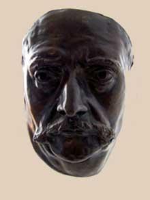 Zacharie Astruc: le marchand de masques. Détail: le masque de Barbey d'Aurevilly