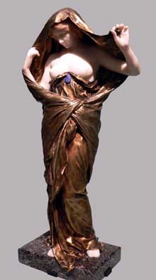 Louis Ernest Barrias: La Nature se dévoilant à la Science. 1899. Marbre, onyx, granit, malachite, lapis-lazuli. Paris, Musée d'Orsay.