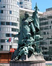 Louis Ernest Barrias: monument aux défenseurs de Paris. 1880-1883. Paris, la Défense