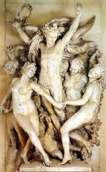 Jean-Baptiste Carpeaux: la Danse. 1863-1869. Créée pour la façade de l'opéra Garnier. Paris, musée d'Orsay
