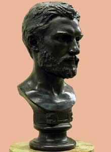 Henri Michel Antoine Chapu: Léon Bonnat. 1864. Bronze, 23 x 54 x 25cm. Paris, musée d'Orsay