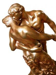 Camille Claudel: La Valse, détail. 1893. Bronze, 43,2 x 23 x 34,3 cm. Paris, Musée Rodin