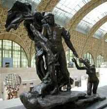 Camille Claudel: l'âge mûr. Bronze, 163 cm x 114 cm x 72 cm entre 1899 et 1913. Paris, Musée d'Orsay