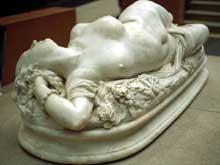 Jean Baptiste Auguste Clesinger: femme piquée par un serpent. Paris, musée d'Orsay