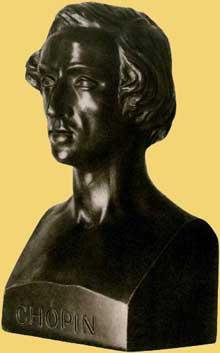 Jean Pierre Dantan: buste de Chopin
