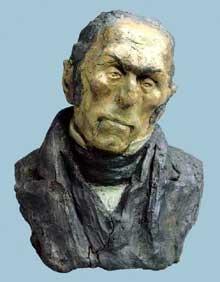 Honore Daumier: François-Pierre-Guillaume Guizot (1787-1874), député, ministre et historien. 1833. Argile coloré. Paris, Musée d'Orsay