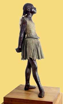 Edgar Degas: la petite danseuse de quatorze ans. Vers 1880 - Bronze et tissu, 104 cm. Dresde,  Staatliche Kunstsammlungen
