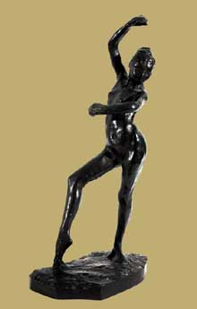 Edgar Degas: La danse espagnole, 1882-1895. Bronze à patine brune. 43,8 cm.