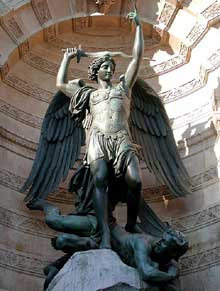 Francisque Duret : fontaine Saint-Michel. Paris, quartier latin