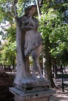 Etienne Hippolyte Maindron: Velléda contemplant la demeure d'Eudore. 1844. Paris, Jardin du Luxembourg