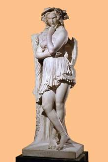Etienne Hippolyte Maindron: Velléda contemplant la demeure d'Eudore. 1844. Paris, Musée du Louvre