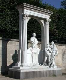 Laurent Honoré Marqueste: monument à Waldeck Rousseau. Paris, Jardin des Tuileries, bassin octogonal
