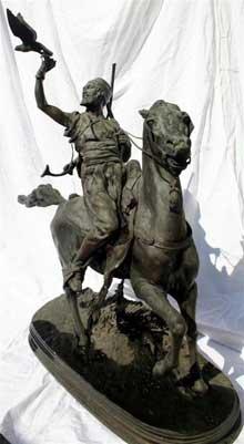 Pierre Jules Mène: fauconnier arabe à cheval
